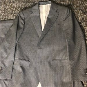 SuitSupply Grey Beadsteipe 40R Suit